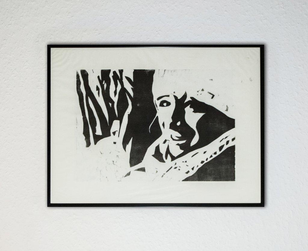 schwarz weiße Holzschnitt